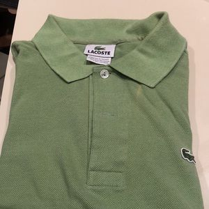 Lacoste green golf shirt. Used.